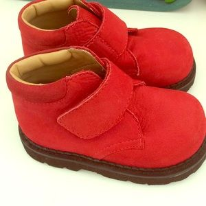 "Red Toddler ""work boots"""